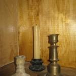 Подсвечники (бронза, керамика).