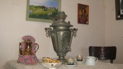 Самовар «ваза рюмкой» произведен самоварной фабрикой Н.А. Воронцова в Туле.